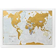 Scratch the World - scratch off places you travel map print - detailed cartography - 80cm x 60cm