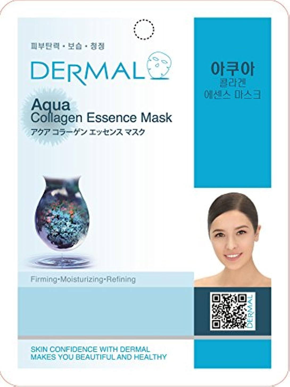 【DERMAL】ダーマル シートマスク アクア 10枚セット/保湿/フェイスマスク/フェイスパック/マスクパック/韓国コスメ [メール便]