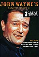 John Wayne Greatest Movies 3 [DVD] [Import]