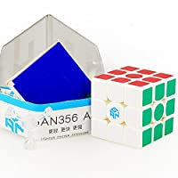 [CuberSpeed]CuberSpeed Gans 356 Air 3x3 White Magic cube Gan 356 Air 3x3x3 Speed cube Kct702 [並行輸入品]