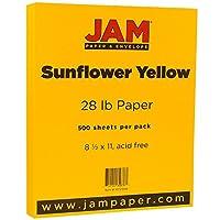 JAM Paper® 8 1/2×11インチ用紙 28ポンド基準 500 Sheets per Ream