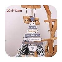 2019木製トナカイクリスマス装飾用ホームクリスマスオーナメント新年キッズギフトクリスマスツリー装飾-D1-
