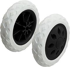 Outfun ブラックホワイトプラスチックコアフォームショッピングトロリー車輪キャスター