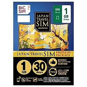 IIJ BIC SIM JAPAN TRAVEL SIM PREPAID PACKAGE[Data Service only・1GB]NO SMS nanoSIM ※No refundable