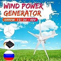 6000W 12月24日/ 48V風力タービン発電機5風力ブレードオプション防水充電コントローラフィット感のための家庭やキャンプで (Voltage : 12V)