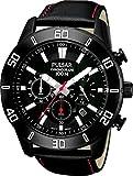 【SEIKO PULSAR】セイコー パルサー 100m防水 メンズ腕時計 ブラックフェイス クロノグラフ PT3371X1 [並行輸入品]