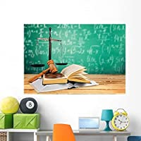Wallmonkeys Law Justice Book Wall Mural Peel and Stick Graphic (60 in W x 41 in H) WM215376 [並行輸入品]