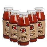 無添加ストレート 絶品トマトジュース「甘たろう」 180ml×5本 完熟フルティカミディトマトだけを使用した贅沢な美味しさ。 水、食塩、糖類一切不使用。