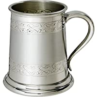 wentworth pewter embossed celtic bands 1 pint pewter tankard