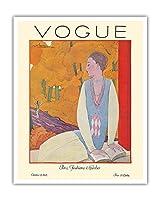 ヴォーグマガジン - 1925年10月 - パリのファッション - ヴィンテージマガジンカバー によって作成された ジョルジュ・ルパプ c.1925 - アートポスター - 41cm x 51cm
