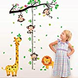 Height Stickers Removable Wall Stickers for Kids Pvc Self Adhesive Height Stickers Waterproof Height Growth Chart Sticker for