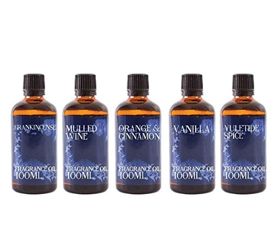 時制呼吸する欠かせないMystic Moments   Gift Starter Pack of 5 x 100ml - Winter - Fragrant Oil