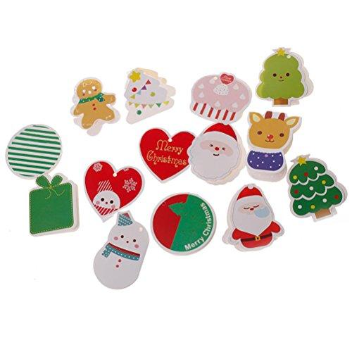 クリスマスカードセット グリーティングカード ミニポストカード ツリー飾り サンタクロース かわいい 贈り物 14枚組
