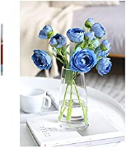 玻璃花瓶 玻璃花底 簡約花器 北歐風花瓶 Fukuka玻璃瓶 水培栽培 室內裝飾裝飾 北歐雜貨 大花瓶