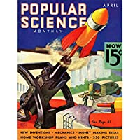 Magazine Cover Popular Science Rocket Launcher USA Art Canvas Print アメリカ合衆国
