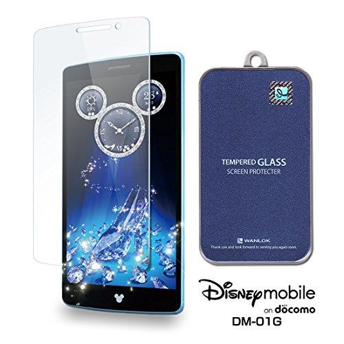 WANLOK 改善版 Disney Mobile on docomo DM-01G 5.2インチ ガラスフィルム NSG 日本板硝子社 国産ガラス採用 液晶保護 フィルム 0.3mm 9H ラウンドエッジ 指紋防止 90日保証付 simフリー スマートフォン 国内正規品 DM01G…