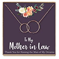 Dear Ava mother-in-lawギフトネックレス: mother-in-law、mother-in-lawギフト、mother-in-lawネックレス、to My mother-in-lawカード、面白い、2 Interlocking Circles