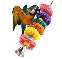 ペット玩具 ペット用品 Amberetech 噛む玩具 鈴付き 小動物用 ストレス解消 鳥歯磨き  可愛いおもちゃ 2点セット  吊下げタイプ玩具 色ランダム
