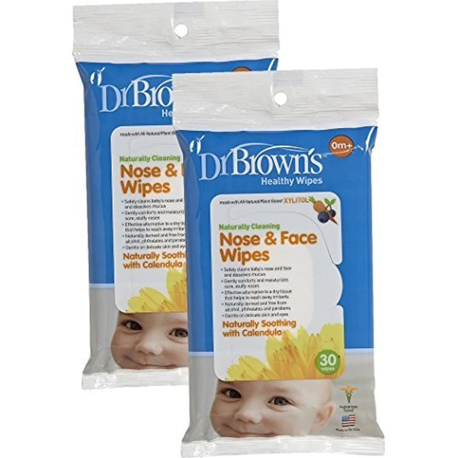 Dr. Brown's Nose and Face Wipes - 30 Pk (Set of Two) by Dr. Brown's [並行輸入品]