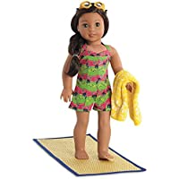 American Girl Swimsuit and Accessories - Nanea's Island Swimsuit for 18-inch Dolls [並行輸入品]