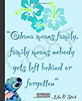 Notebook: Cartoon Lilo & Stitch Funny Animation Color  Soft Glossy Cover Graph Paper Pages Book 7.5 x 9.25 Inches 110 Pages