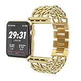 For Apple Watchバンド、Jansinプレミアムステンレススチールカウボーイスタイルブレスレット時計バンドストラップfor Apple Watchシリーズ1、2シリーズ、シリーズ3,38MM 42MM