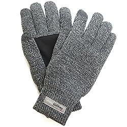 adelphos 3M社 Thinsulate Platinum 手袋 スマホ対応 高機能中綿素材 極暖 滑り止め付き 男女2サイズ ニット グローブ メンズ レディース 製品保証90日