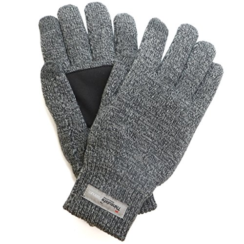 adelphos 3M社 Thinsulate Platinum 手袋 スマホ対応 高機能中綿素材 極暖 滑り止め付き 男女2サイズ ニット グローブ メンズ レディース 製品保証90日(L)