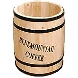 天然木製 コーヒーバレル プランター(カバー・スタンド) Sサイズ 単品 直径23cm×高さ30cm CB-2330N