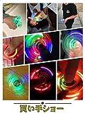 EDC指スピナー スピン ウィジェット フォーカス 玩具 LEDハンドスピナー Hand spinner Fidget Spinner Toy LED ストレス解消 暇つぶし 脳トレー ボールベアリング 多色の