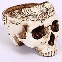 人間の頭蓋骨の灰皿クリエイティブマニュアル汕頭の装飾の花瓶の工芸品植物の花瓶の樹脂男性