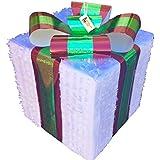 Christmas Gift Box Pinata Green & Red Bow