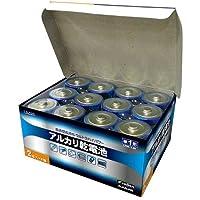 LAZOS 単1アルカリ乾電池12本セット(2本入×6パック) B-LA-T1X2
