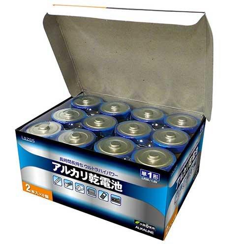 単1アルカリ乾電池12本セット(2本入×6パック) B-LA-T1X2