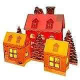 サンリオ クリスマスカード 洋風 ライト&メロディ ポップアップ クリスマスハウス3軒 S7334