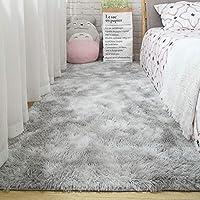 カーペット 北欧 ムートンラグ 絨毯 寝室 シンプル 滑り止め付 ホームマット 屋内 防ダニ 抗菌 ホットカーペット対応 ふんわり シャギー敷物モノクロ 新生活 毛足 厚手 ブルー グレー 洗える
