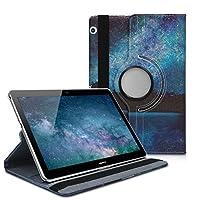 kwmobile Huawei MediaPad T3 10 用 ケース - 360度回転 タブレット 保護 カバー 全面 保護ケース ファーウェイ メディアパッド