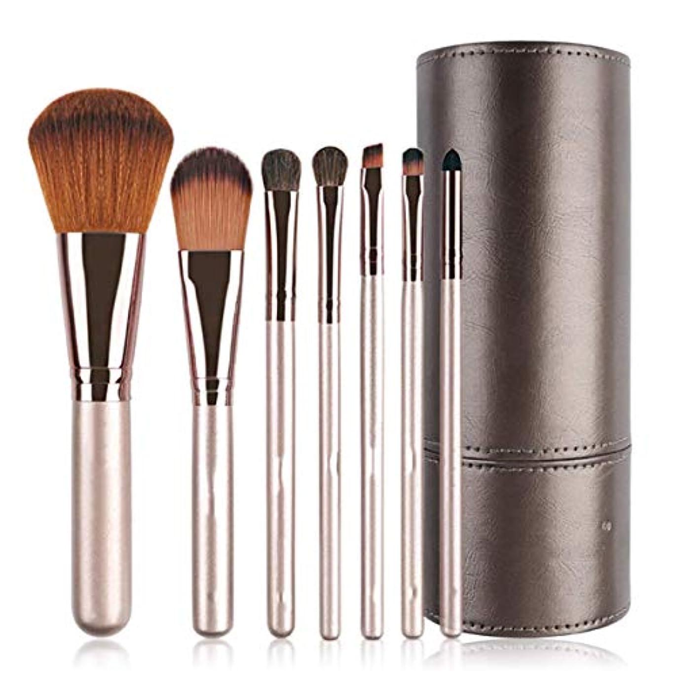 に付けるギャロップスワップNORIDA メイクブラシ 化粧ブラシ 化粧筆 メイクブラシ7本セット 馬毛&高級纤维毛を使用 レザー化粧ケース付き