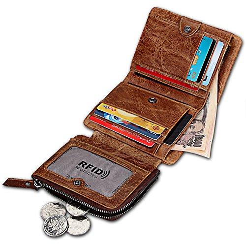 SkyLeap 二つ折り 財布 メンズ 本革 カード11枚収...