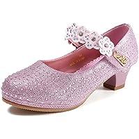 Bumud Girls' Mary Jane Low Heel Pumps