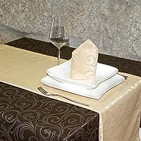Luxuryベージュテーブルランナー–Anti Stain Proof Resistant–パック2単位の–ref。Lyon