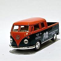 KiNSMART フォルクス?ワーゲン ワーゲンバス ピックアップ デリバリー 1/34 1963 VW Bus Double Cab Pickup Delivery  (オレンジ)