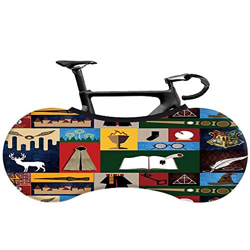成人期レイアウト豚肉自転車カバー、洗える汚れのない自転車収納ホイールカバー、自転車室内収納バッグ、耐スクラッチ、さまざまなデザイン、スタイリッシュなアクセサリー,W