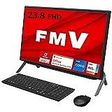 【公式】 富士通 デスクトップパソコン FMV ESPRIMO (MS Office 2019/Win 10/23.8型/Core i7/8GB/SSD 256GB/DVD) FHシリーズ AZ_WF1F1_Z016 ブラック