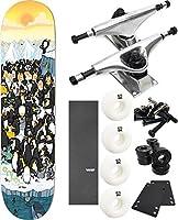 "Enjoi Skateboardsペンギンパーティーresin-78"" x 31.7"" Complete Skateboard–7項目のバンドル"