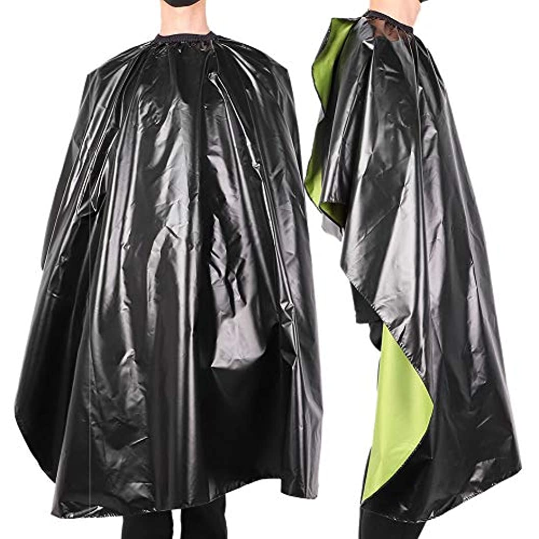 あごひげブロックする洪水防水 調節可能 サロン 散髪 ヘアスタイリングケープガウン 大人の理髪バーバーラップエプロン-ヘアカット、染色、パーマ、カラーリング、看護に最適