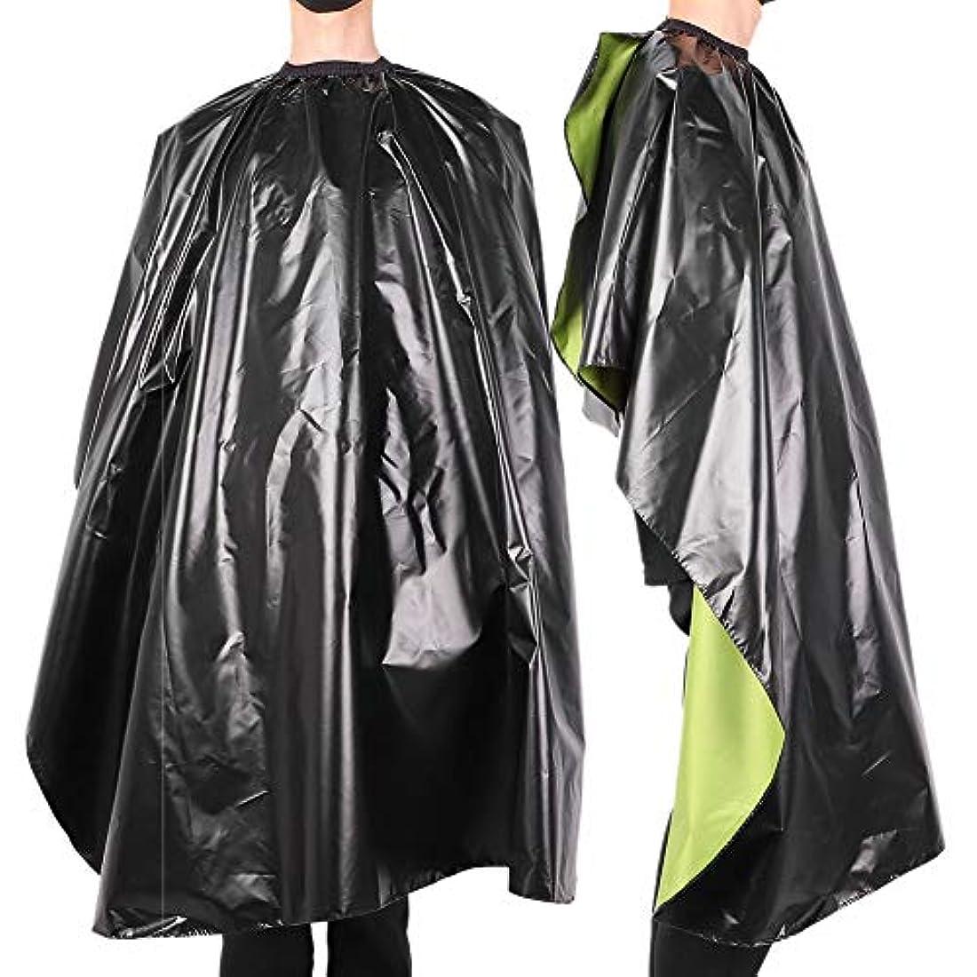 集中オーナメント降雨防水 調節可能 サロン 散髪 ヘアスタイリングケープガウン 大人の理髪バーバーラップエプロン-ヘアカット、染色、パーマ、カラーリング、看護に最適