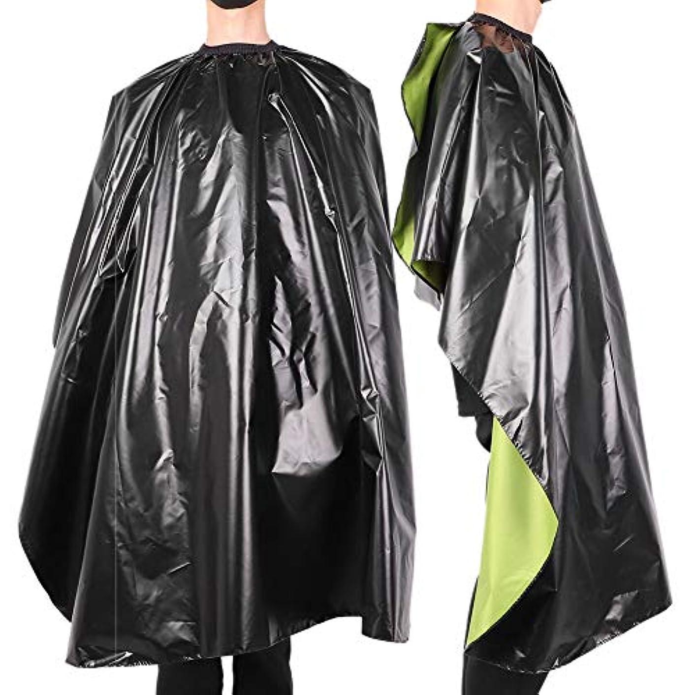 タイプ放置関係ない防水 調整可能 サロン 散髪 ヘアスタイリングケープ-ガ ウン大人の理髪理髪師 ラップエプロン