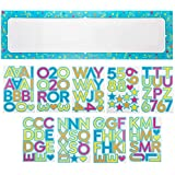 Juvale Customizable Banner - 10-Piece Custom Banner Kit - DIY Letter Banner with Stickers - Create Your Own Banner, 62 x 17.5-Inch Banner [並行輸入品]