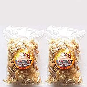 龍華のあんだかし~ 塩ありなし食べ比べセット 100g×各1袋 豚皮チップス 沖縄伝統の味 あぶらかす お酒のおつまみやMEC食に! サクサク食感